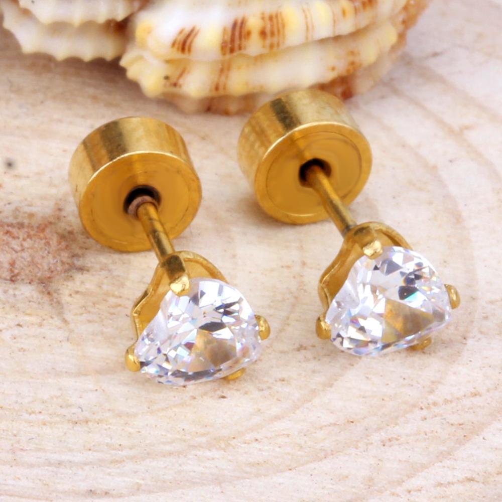 LUXUSTEEL Καρδιά Κρύσταλλο Σκουλαρίκι - Κοσμήματα μόδας - Φωτογραφία 5
