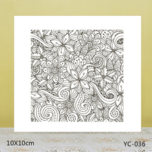 ZhuoAng Long vine flower Transparent seal / sealed DIY scrapbook album decoration card seamless