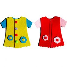 Clothes-Brain-Development Kindergarten Craft Felt-Clothes Teaching-Aids Learning DIY
