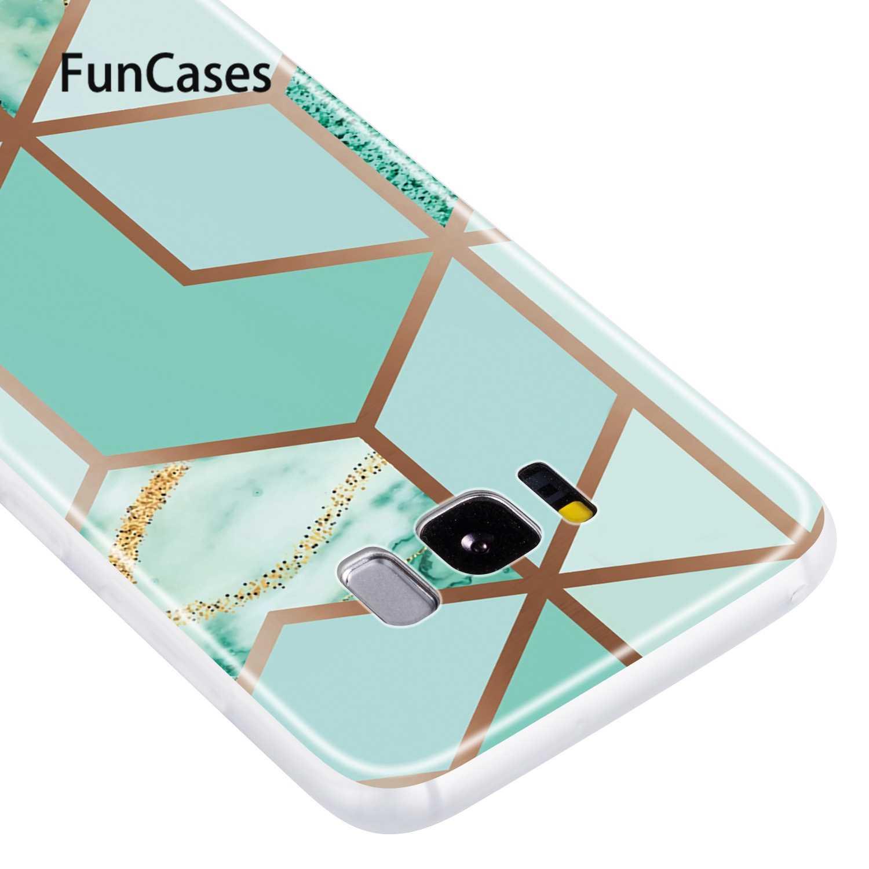 Skórzane etui do zbroi Samsung S8 luksusowy diament błyszczący pokrowiec etui do Samsung Galaxy telefon S8 miękka powłoka z tpu smamsung