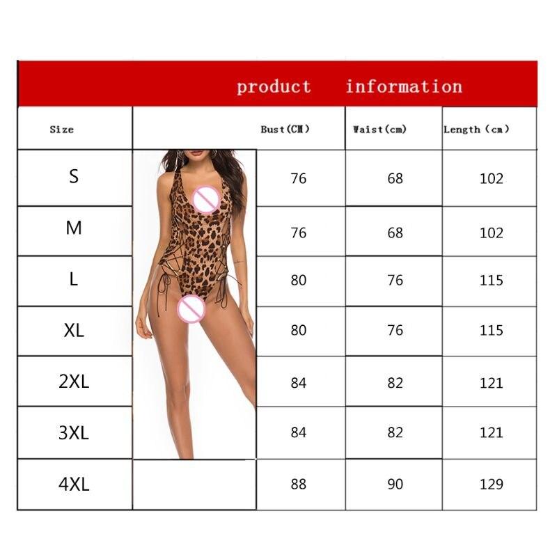 Vrouwen Sexy Lingerie Leopard Nachtkleding Erotische Ondergoed Sex Clubwear Volwassen - 6
