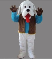Adult Cute Deluxe Dog Party Mascot Costume Christmas Fancy Dress Halloween Event Apparel Cartoon Character Birthday Clothes
