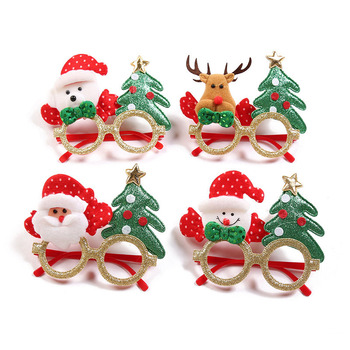 Christmas Santa Claus Snowman Elk Tree Glasses Frame Toys New Year Party Supplies Gifts For Adult Kid Xmas Party Photo Props