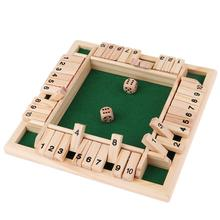 4 Sided 10 Number Board Game In French Shut The Box Board Games Toys Creative For Kids&Adult Set For 4 People Pub Party Drinking
