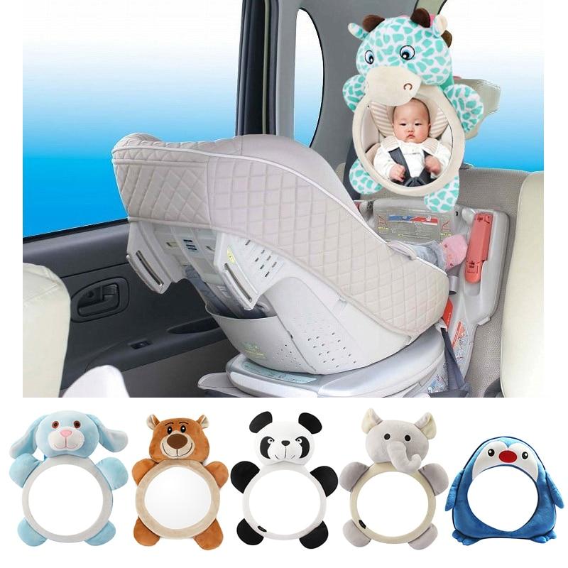 Safety Seat Rear View Mirror Cute Baby Car Mirror Reverse Installation Car Interior View Giraffe Haha Mirror