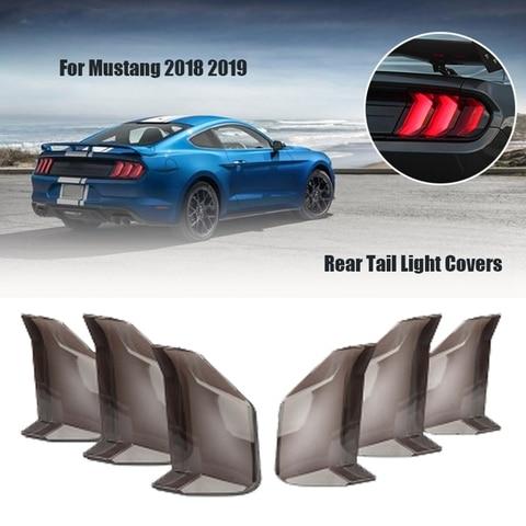 6 pcs luz traseira da cauda do carro lampada capa protetor adesivo para ford mustang