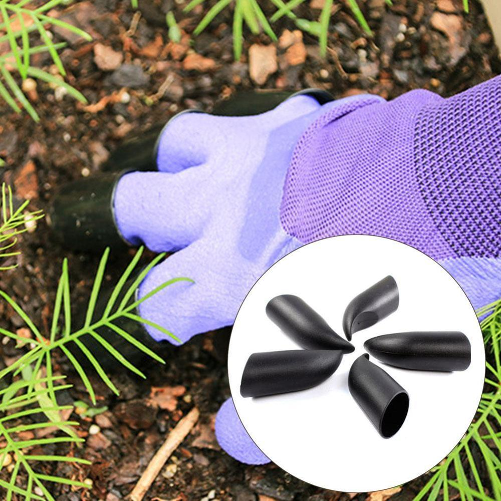 New Garden Gloves 4 Abs Plastic Claws For Garden Excavation Planting Outdoor General Protective Work Gloves Accessories