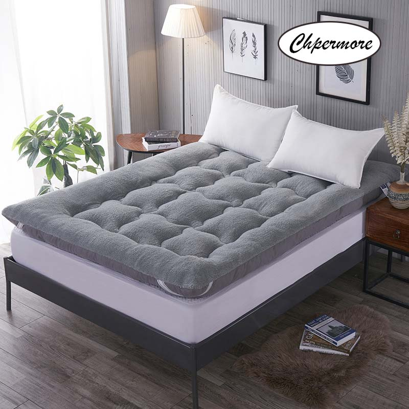 Chpermore Lamb Velvet Tatami Mattresses 1.8m Double Thick Warm Mattress For Family Bedspreads King Queen Twin Full Size