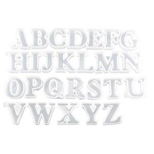 Украшения одной формы букв Хрустальная эпоксидная форма 26 Английский алфавит силиконовые украшения креативное украшение