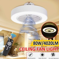 Modern Acrylic Light Ceiling Fan Lamp Remote Control three color dimming ceiling fan light White Decor Light for Home AC185 250V