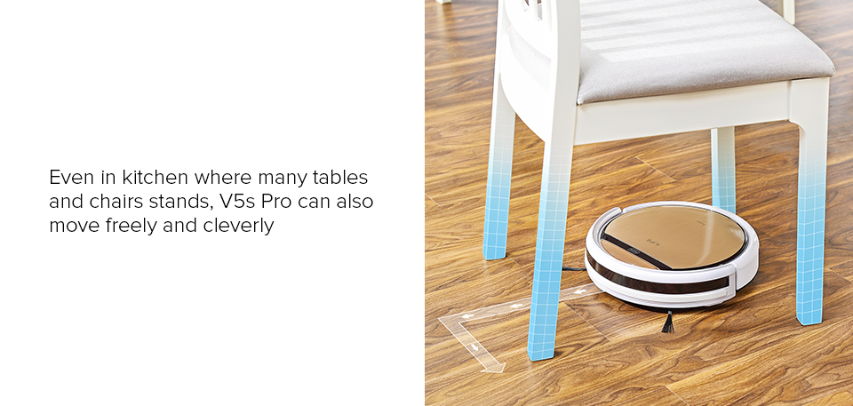 H3215201e4dd64e5486185c84dff59628c ILIFE V5sPro Robot Vacuum Cleaner vacuum Wet Mopping Pet hair and Hard Floor automatic Powerful Suction Ultra Thin disinfection