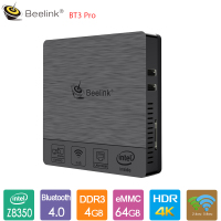 Beelink BT3 Pro Mini PC Intel Atom X5 Z8350 4GB DDR3 64GB 2.4G/5.8G WiFi Bluetooth4.0 1000Mbps Media Player Support Windows 10