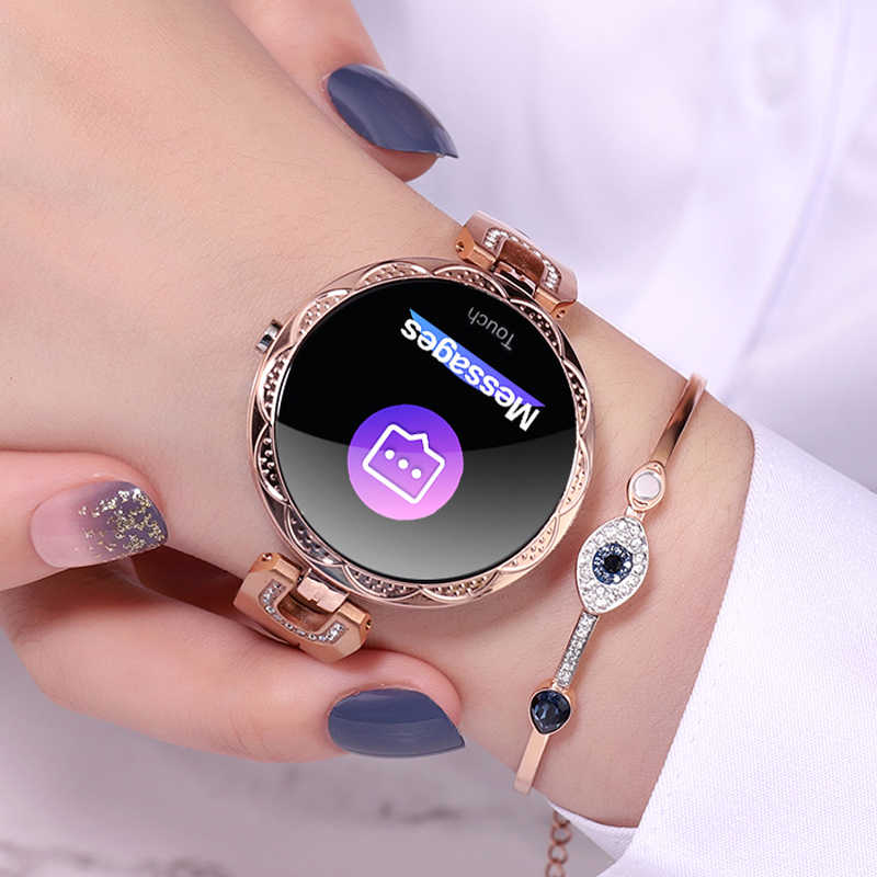 Women's Fashion Smart Watches Waterproof Heart Rate Blood Pressure Health Monitor Smartwatch For Ladies Watch Bracelet Wristband
