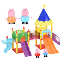 Anime Toys Park Action-Figure-Model Peppa Doll Pig-Series Birthday-Gifts Children Car