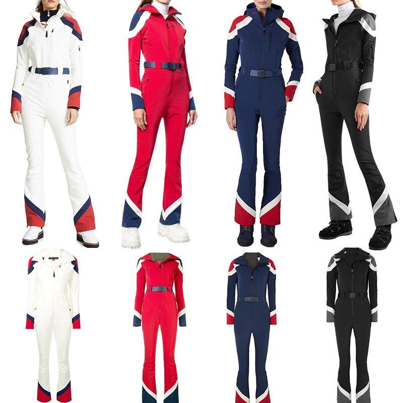 Showtime ДМТ комбинезон с завышенной талией широкий лыжный костюм интегрированный нагрудник женские лыжный костюм плотно облегченная лыжные о...