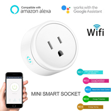 Get more info on the 1 pcs US Plug Wifi Smart Home Plug Socket Switch Remote Control  WiFi Socket Compatible with Alexa Google Home Assistant