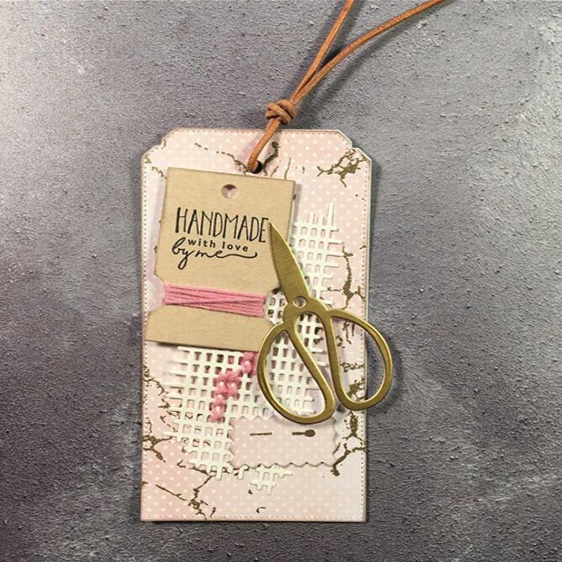 JC wykrojniki do scrapbookingu siatka tło Craft Album szablon do kartek zrobić papier forma do wycinania szablon dekoracja 2020