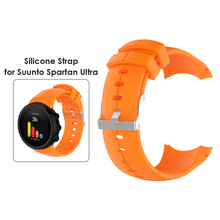Replacemet Watch Band Silicone Wristband for Suunto Spartan Ultra Solid Color Watch Strap