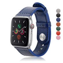 Strap For Apple Watch Band 38mm 40mm 42mm 44mm iwatch Band Genuine Leather Bracelet Belt Watchband For Apple Watch 5/4/3/2/1 hoco new genuine leather 44 42 40 38mm watchband for apple watch 4 3 2 first layer cattle leather strap bracelet for iwatch