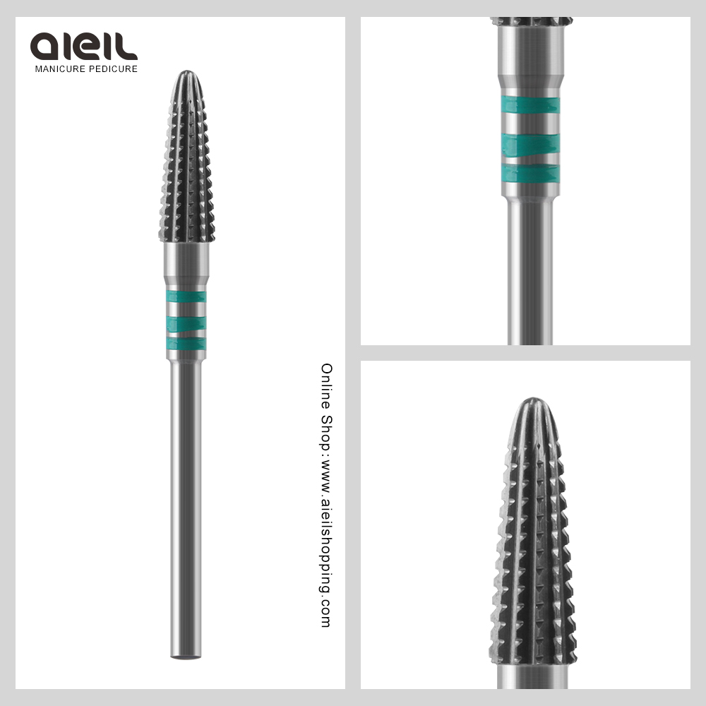 Faster Remove Acrylics Gel Tungsten Carbide Burrs Nail Drill Bit Electric Manicure Drill Accessory