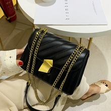 2019 The Tide All-match Chain Messenger Broadband Chic crossbody bags for women pu leather luxury handbags designer