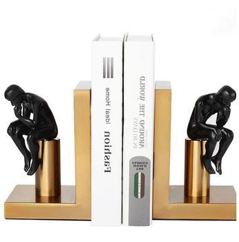 2 sztuk zestaw nowoczesny abstrakcyjny rysunek Bookends statua myśliciel Art Book End figurki metalowa dekoracja wnętrz (rękodzieło) akcesoria tanie i dobre opinie Model Wyroby gotowe Unisex 18cm Zachodnia animiation Dorośli 14 lat 8 lat 6 lat Zapas rzeczy Film i telewizja