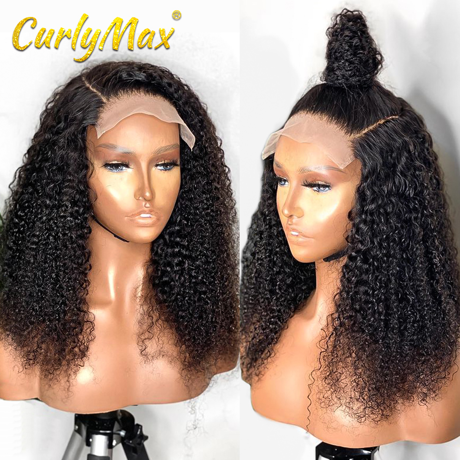 Парики из человеческих волос 4X4 на фронте, парики из бразильских кудрявых натуральных волос