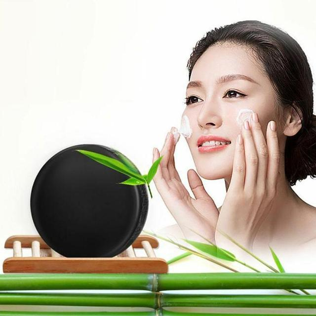 Natural Bamboo Charcoal Soap Clean Whitening Soap Blackhead Remover Acne Treatment Oil Control Soaps Skin Care Treatment 1