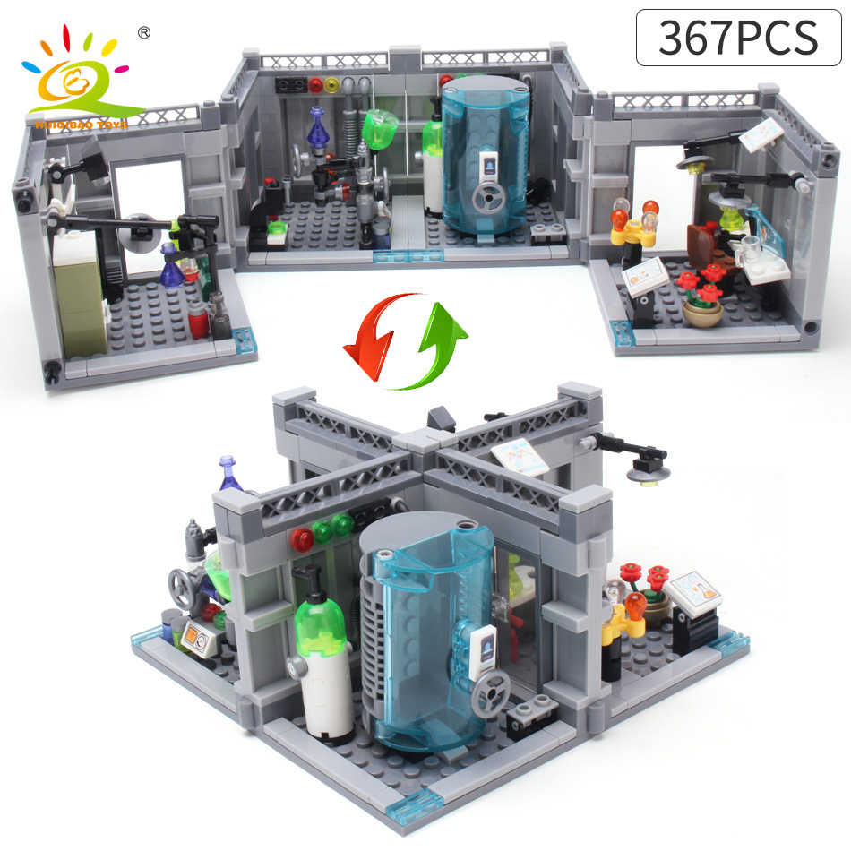 Huiqibao 367pcs Medicine Science Research Lab Building Blocks Toys City Police Doctor Figure Brick For Kids Enlighten Toys Toys Forcompatible Lego Technics Aliexpress