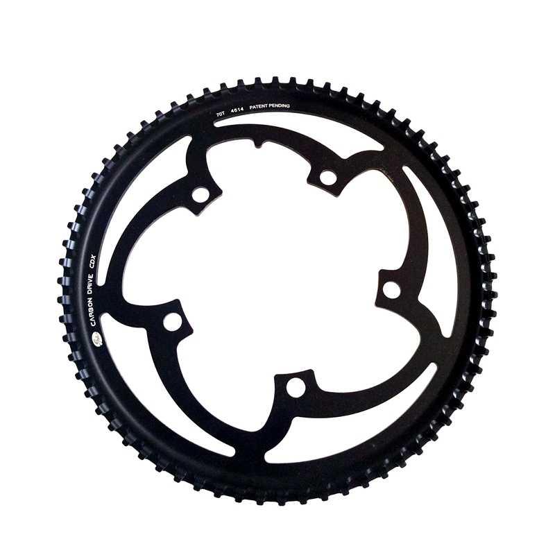 米国ゲート自転車スプロケット CT11705AA 70 t 5 本のボルト炭素繊維ベルトゴム cdx バイクの駆動ベルト 11 ミリメートルセンタートラックフロントスプロケット