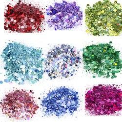 1Kg 1000G Glitter In 30 Kleuren! Bulk Groothandel Chunky En Fijn Voor Nail Art Craft Chunky Glitter Gemengde Holografische Mix Pailletten