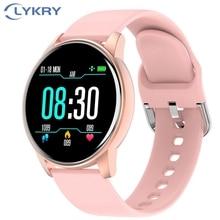LYKRY Zl01 ساعة ذكية النساء الرجال الرياضة 1.3 بوصة شاشة جهاز تعقب للياقة البدنية مراقب معدل ضربات القلب IP67 مقاوم للماء رسالة تذكير ساعة