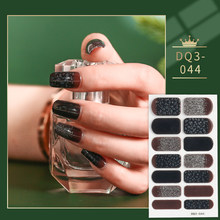 Black And Red And Gray Glitter Gradient Color Nail Stickers Designer Nail Decals Nail Sticker lot Nail Tips Manicure Decoration