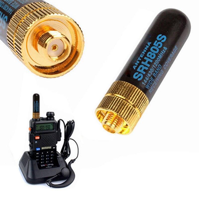 Mini SRH-805S 5 cm SMA-F antena dupla fêmea da faixa para baofeng UV-5R BF-888S rádio SRH-805S antena