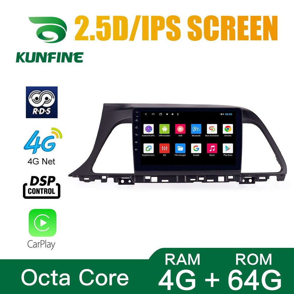 Octa Core 1024*600 Android 8.1 Car DVD GPS Navigation Player Deckless Car Stereo for Hyundai Sonata 2015-2017 Radio