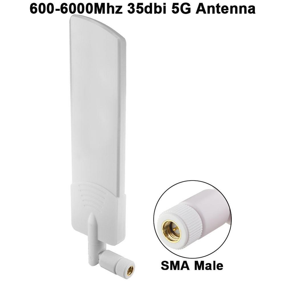 5G антенна 600-6000 МГц 35dbi Omni 5G LTE антенна SMA мужской 3G 4G GSM полночастотный направленного бустерный усилитель-модем с высоким коэффициентом усиле...