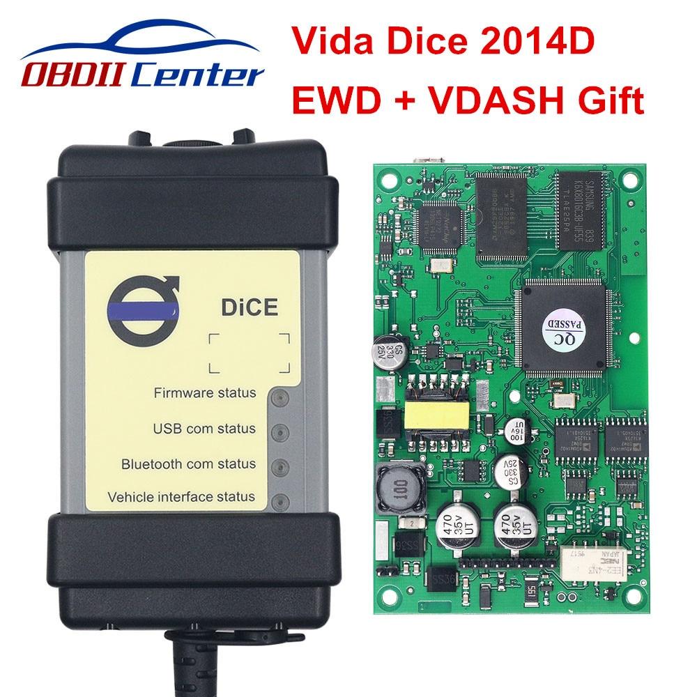 2019 для Volvo Vida Dice 2014D диагностический сканер инструмент для Volvo Dice Pro Автомобильный диагностический интерфейс EWD VDASH обновление прошивки