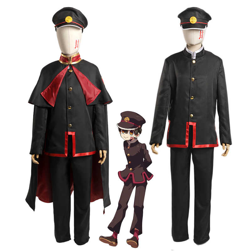 Anime Wc-bound Jibaku Shounen Hanako-kun Hanako kun Yugi Amane Mantello Costume Cosplay Uniforme
