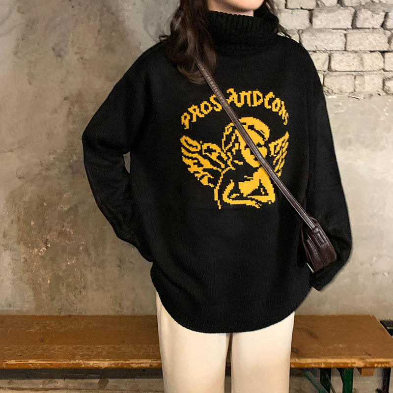 Women's Sweaters Japanese Kawaii Ulzzang Vintage Loose Harajuku Angel Cute Sweater Female Korean Harajuku Clothing For Women