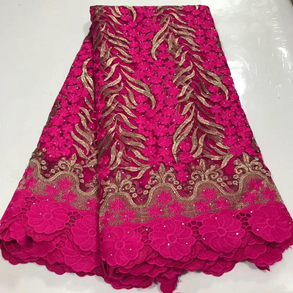 Rosy Red Mesh French Tulle Lace, African Ankara Swiss Voile Lace Fabrics For Wedding Dress 2020 Latest Nigerian Lace Material