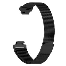 Wristband Replacement For Fitbit Inspire HR Milanese Magnetic Metal Stainless Steel Mesh Belt Easy To Adjust Wrist Strap 1SH