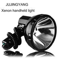 Bright Portable HID Spotlight 35 220W Xenon Search Light Hunting 12V Searchlight NEW