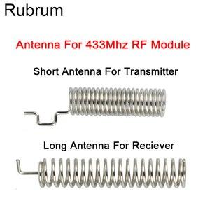 Image 1 - Rubrum 20 seti 433MHz RF bahar anten RF alıcı verici modülü 433 MHZ akıllı ev ışık için kablosuz uzaktan kumanda anahtarı