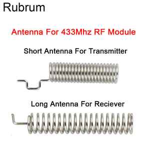 Image 1 - Rubrum 20Set 433MHz RF Spring Antenna RF Receiver Transmitter Module 433 MHZ For Smart Home Light Wireless Remote Control Switch