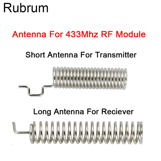 Rubrum 20Set 433MHz RF Spring Antenna RF Receiver Transmitter Module 433 MHZ For Smart Home Light Wireless Remote Control Switch