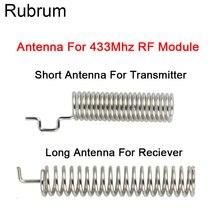 Rubrum antena de resorte RF, 20 juegos, 433 MHz, Transmisor RF módulo receptor, 433 MHZ, para interruptor de Control remoto inalámbrico de luz de casa inteligente