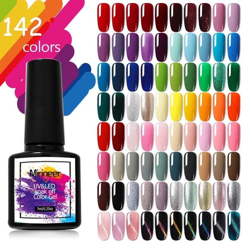 Gel Nail Polish Art Semi-Permanent Varnish Hybrid UV LED Soak Off Shiny Color All For Manicure Matte Top Coat