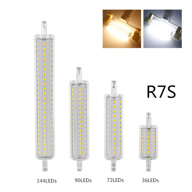 Dimmable <font><b>R7S</b></font> <font><b>LED</b></font> Corn 78mm <font><b>118mm</b></font> 135mm 189mm Light 2835 SMD Bulb 7W 14W 20W 25W Replace Halogen Lamp <font><b>Bombillas</b></font> image
