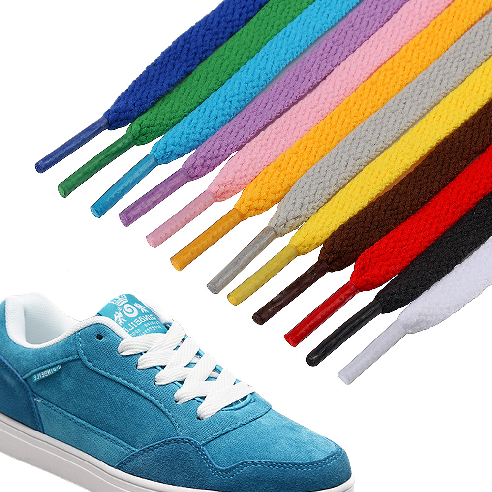 1Pair Colored Shoe Laces Sneaker Flat Shoelaces Hiking Boots Shoe Strings Sports Shoe Laces  Ribbon Shoelaces 110CM