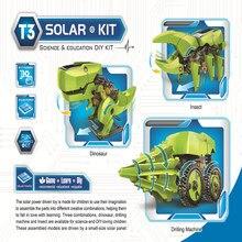 Dinosaurio de energía Solar 3 en 1 para niños, Kits robóticos, montaje artesanal, juguetes educativos, modelo de construcción, ciencia